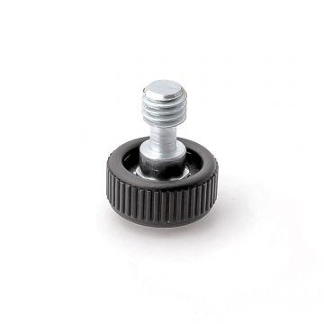 "K&M Spare knurled knob 3/8""x19.5 - Logo"