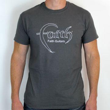 Faith Guitars T-Shirt Charcoal/White - Medium