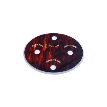 Hofner Spares Control Panel Oval Tortoiseshell