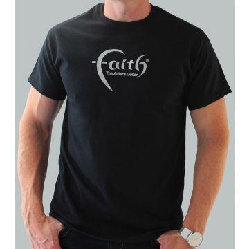 Faith Guitars T-Shirt Black/Silver - X-Large